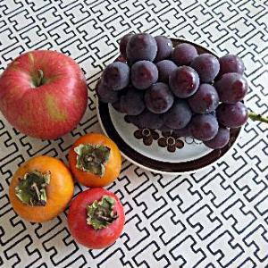 シナノスイート、柿、栗ごはん☆秋の収穫