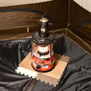 吊り下げ式のハーフインナーが石油ストーブのやけど防止に効果大