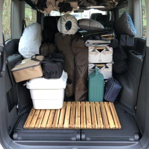 ステップワゴンの荷室にキャンプ道具をテトリス積載してみた
