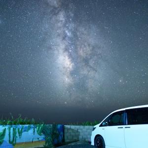 太平洋に面した白浜フラワーパークと野島崎灯台で天の川観察