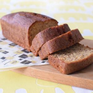 グルテンフリーの米粉バナナケーキ