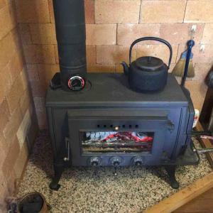 新蕎麦と暖炉♡