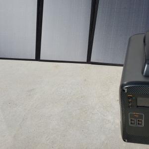 ソーラーパネルを使って大容量ポータブル電源に充電してみた^^