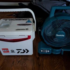 最近買った、キャンプ用品  暑さ対策に! マキタCF203DZ