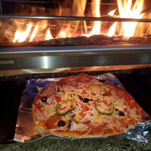 TO・KO・BIで、ピザ焼いてみたら、マジで美味かった♪