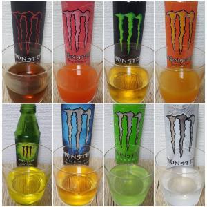 【日本国内シェアNO.1】人気のモンスターエナジー全種類を飲み比べてランキング!味、色、成分について!