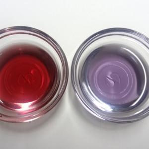 ハイブリッド抽出法で、青から赤と紫をとり出す