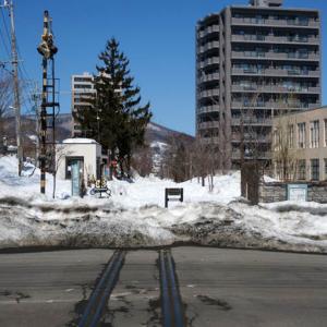 冬の小樽・旧国鉄手宮線跡地