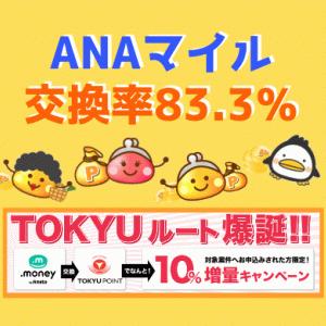 ソラチカルート超え!ちょびリッチANAマイル交換率83.3%キャンペーン!