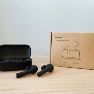 【AUKEY EP-T21 レビュー】AirPodsライクな3000円台のエントリーモデル【音質○、低遅延◎】