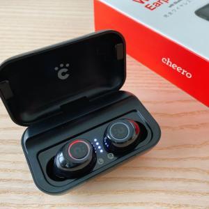 【cheero Wireless Earphones CHE-624 レビュー】低音好き必見!5千円以下で買える完全ワイヤレスイヤホン【AAC&USB-C充電対応】