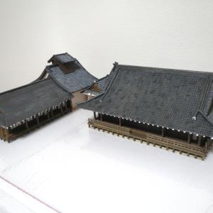 天龍寺ジオラマ製作/小方丈と曹源池庭園