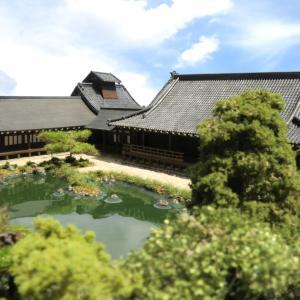 京都嵐山天龍寺ジオラマ製作約1/200の完成