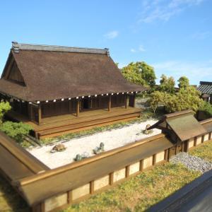 今年最後の創建期龍安寺ジオラマ