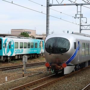 天竜浜名湖鉄道ラッピング列車と西武001系甲種輸送(2019年10月 新所原駅)