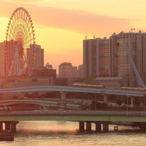 東京ビッグサイト駅付近  ゆりかもめのすれ違い (2012年 あの年の秋)