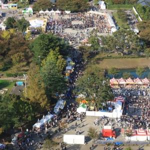 駿府城公園は「大道芸ワールドカップ」開催中 (2019年11月 オマケはいつかのドクターイエロー)
