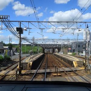 名鉄電車は「佐屋行き普通列車」 西枇杷島駅到着 (2019年9月)
