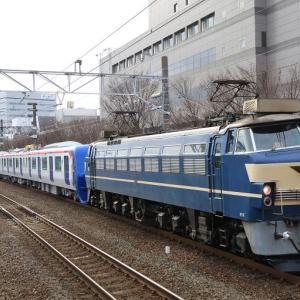 EF66 27 つくばエクスプレスTX-3000系甲種輸送(2020年1月26日 静岡駅)