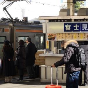静岡駅から特急「ワイドビューふじかわ3号」乗車 その1 (静岡駅ホームのお蕎麦屋さんほか)