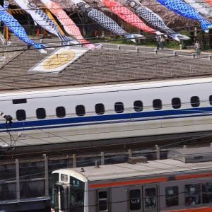 愛知県は清洲城とソメイヨシノと311系とN700系新幹線 (2010年4月 あの年の春 在庫でドン)