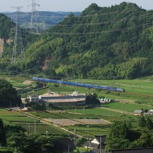 ブルートレイン「富士はやぶさ」 菊川-金谷 (2007年撮影 今日は八十八夜)