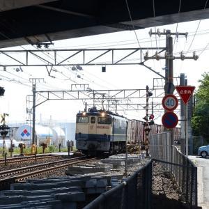 東海道本線は天竜川駅付近 EF65列車と鈴与専用線 (2020年5月ほか)