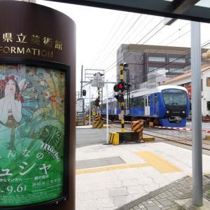 静岡鉄道はA3000 草薙駅付近の風景 (2020年7月)