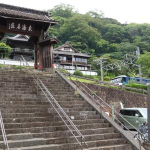 静岡市清水区興津 清見寺付近を通る貨物列車 (2020年6月)