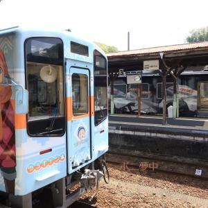 天竜浜名湖鉄道は「ゆるキャン△ ラッピング列車」 天竜二俣駅(2021年4月)