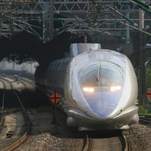 東海道新幹線上り 小田原駅を通過する500系新幹線 (2007年5月 在庫でゴー)