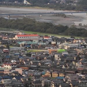 大井川鉄道は終着金谷へ向かうSL列車 (2011年9月 秋の在庫シリーズ)