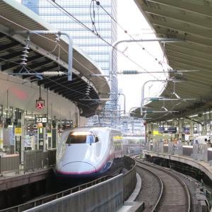 東京駅新幹線ホーム 「やまびこ216号」到着 (2019年6月 東京旅)