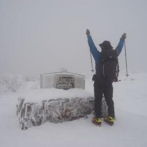 冬大山登山レポUP