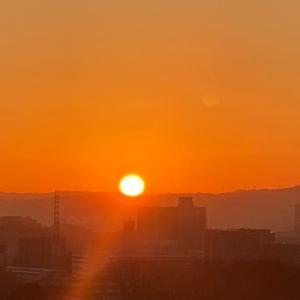 今日の日の出(20210121)