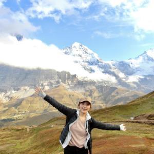 【スイス】移動からのアルプスハイキング!