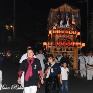 栄町だんじり(屋台) 旧マック東予店 東予祭り前夜祭 愛媛県西条市