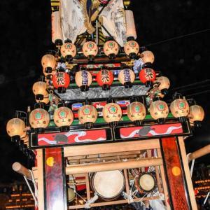 松之巷だんじり(屋台) お旅所2018 伊曽乃神社祭礼 西条祭り 愛媛県西条市