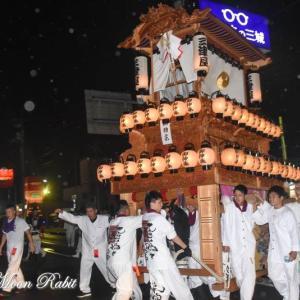 三津屋だんじり(屋台) 旧マック東予店 東予祭り前夜祭 愛媛県西条市