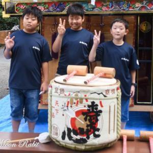 南川だんじり(屋台)お披露目 高鴨神社祭礼 小松祭り 愛媛県西条市小松町