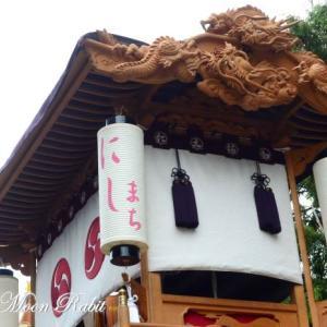 西町だんじり(屋台) 祭り提灯 石岡神社祭礼 西条祭り 愛媛県西条市氷見