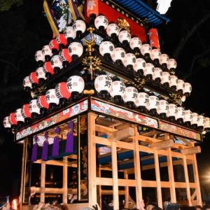 中野だんじり(屋台) 宮出し 伊曽乃神社祭礼 西条祭り2019 愛媛県西条市