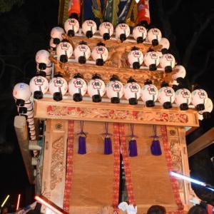 楠だんじり(屋台) 宮出し 伊曽乃神社祭礼 西条祭り2019 愛媛県西条市