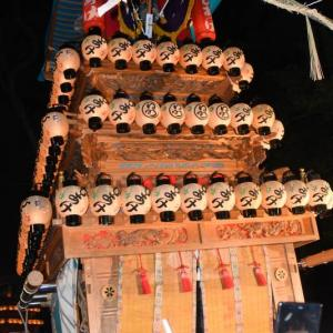 日明だんじり(屋台) 宮出し 伊曽乃神社祭礼 西条祭り2019 愛媛県西条市