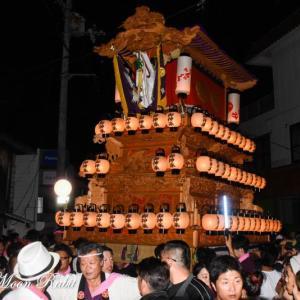 土居だんじり(屋台) 氷見地区前夜祭 石岡神社祭礼 西条祭り2019 愛媛県西条市