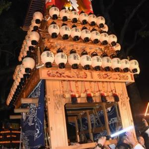 藪乃内だんじり(屋台) 宮出し 伊曽乃神社祭礼 西条祭り2019 愛媛県西条市