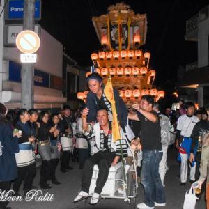 久保だんじり(屋台) 氷見地区前夜祭 石岡神社祭礼 西条祭り2019 愛媛県西条市