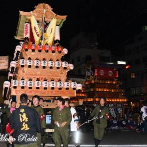 清水町だんじり(屋台) 前夜祭 西条駅前 伊曽乃神社祭礼 西条祭り2019 愛媛県西条市