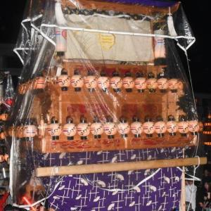 岡村だんじり(屋台) 三嶋神社祭礼宮入り 小松祭り2019 愛媛県西条市小松町