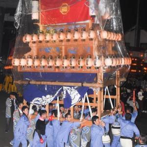 旧藩だんじり(屋台) 三嶋神社祭礼宮入り 小松祭り2019 愛媛県西条市小松町